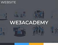 WE3 Academy Website Design
