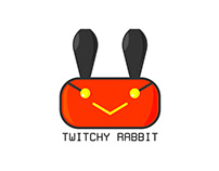 Thirty days logo challenge - Day three- TWITCHY RABBIT