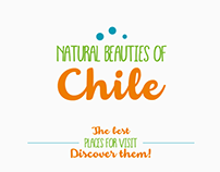 """Tourism infographic """"Natural beauties of Chile"""""""