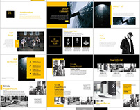 Yellow business magazine Report PowerPoint template