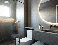 CGI - Gray Bathroom