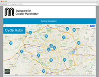 Cycle Hubs webpage redesign