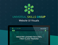 Universal Skills Group - Website UI Visuals