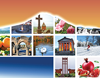 """TOP 50 Sights of Armenia"" - catalog design"