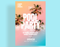 Summer Pool Party Flyer Templates