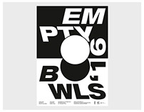 poster / empty bowls