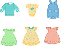 Baby Clothes flat vector