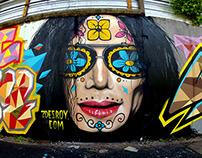 Graffiti mural Mitchal Jackson
