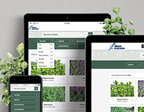 Webpage and icon design - Hove Plantesalg