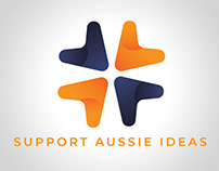 Support Aussie Ideas - Crowdfunding Facebook Page Logo