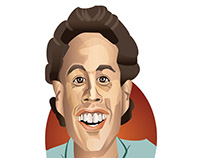 Jerry Seinfeld Caricature Vector