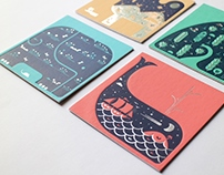 Letterpress Coasters - Habitat Series