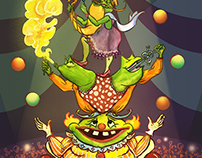 Circus Frogs! (Frogfolio - Dellas Graphics)
