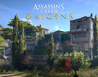 Assassin's Creed Origins - Level art of the Mansion