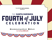 The Santa Barbara Fourth of July Celebration Branding