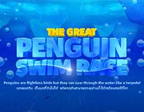 Penguin ice maze challenge in SEA LIFE bangkok