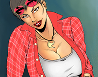 Pin up #5 colored