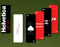 Helvetica Neue Trading Cards : Naipes Helvetica Neue