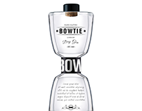 BOWTIE Dry Gin bottle and label design