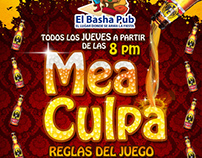 Flyer Eventos Bar Basha