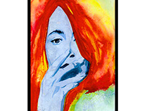 Suzanne Vega watercolor