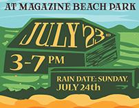 Magazine Beach Event Poster