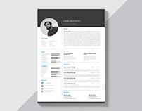 Free Creative Black and White Resume Template