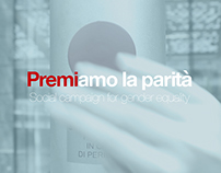 Premiamo la parità: social campaign for Gender Equality