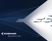 Trade Show Display Wall - Embraer Executive Jets