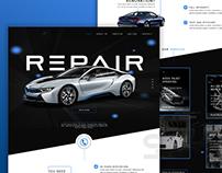 Vehicle Body Repair / Paint Web Design Concept