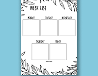 FREE DOWNLOAD: Week List