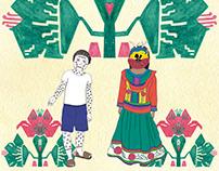 Portadas libro de texto lenguas en indígenas SEP-CNDH.