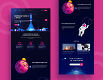 Spaceone landing page design