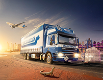 Mainfreight: Brisbane Wall Mural