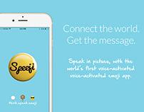 Speeji - Voice to Emoji Converter iOSApp Design (UI/UX)