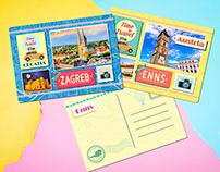 Postcard design for souvenir company