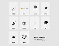 Adobe Spark Post Minimals