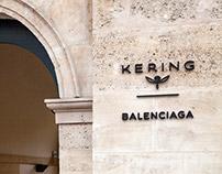 Signalétique du Siège Social de Kering et Balenciaga