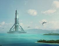 Sci fi 3D Matte Painting