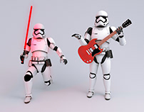 Stormtrooper and his hobbies Fan art