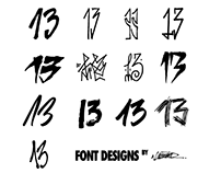 13FONT Designs