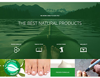 Website design for health product