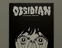 OBSIDIAN - pitch black drawings