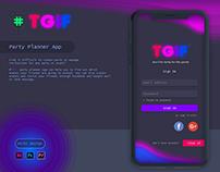 #TGIF - Party Planner App UX/UI Design Project