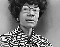 Shirley Chisholm Digital Art by Wayne Flint