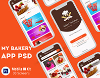 Bakery food delivery app UI