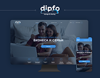 DipFo Site and Brand Design. Storage Sharing Services