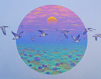 """mural """"Matsalu Barnacle goose."""""""
