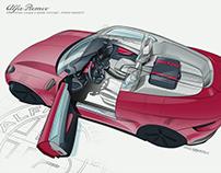 AlfaRomeo coupe 2 seater interior concept