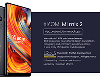 Xiaomi Mi mix 2 App presentation mockups ( Freebie )